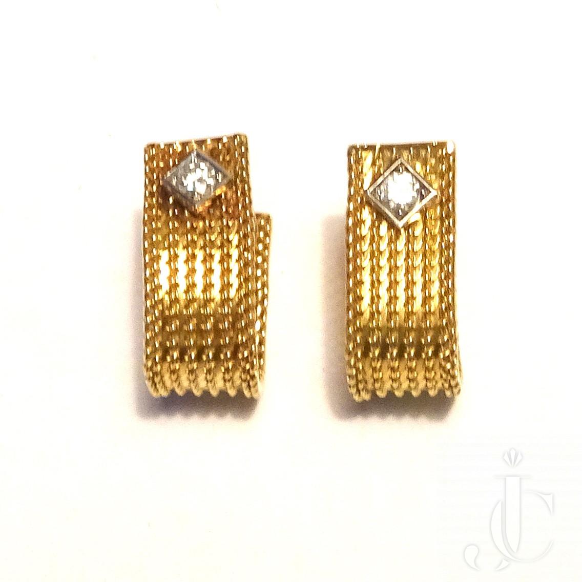 Gold Diamond Cufflinks