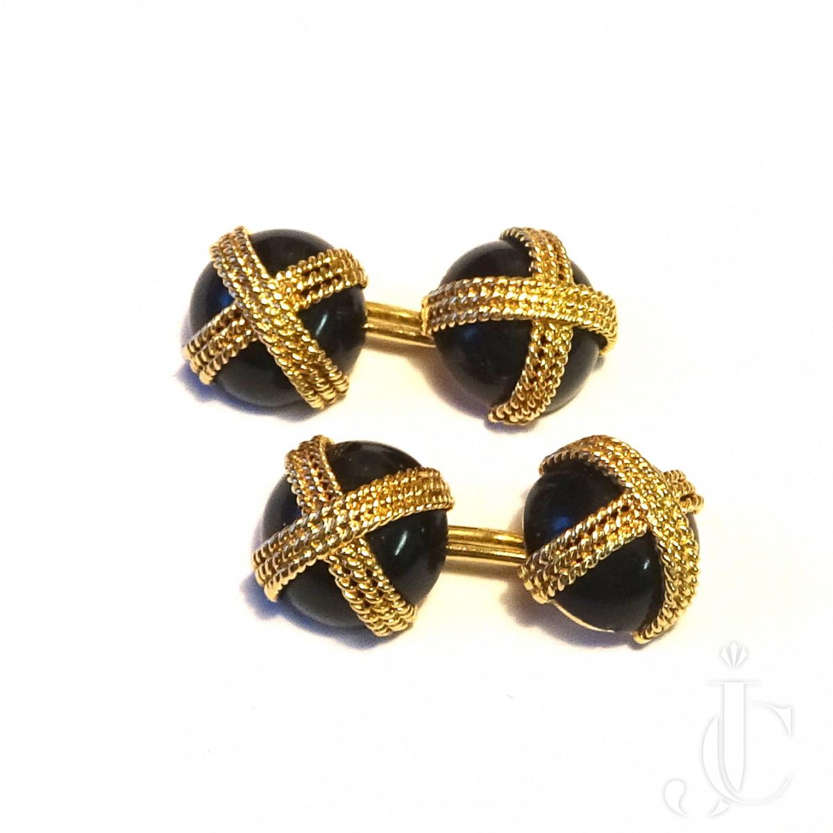 VCA Onyx Gold Cufflinks