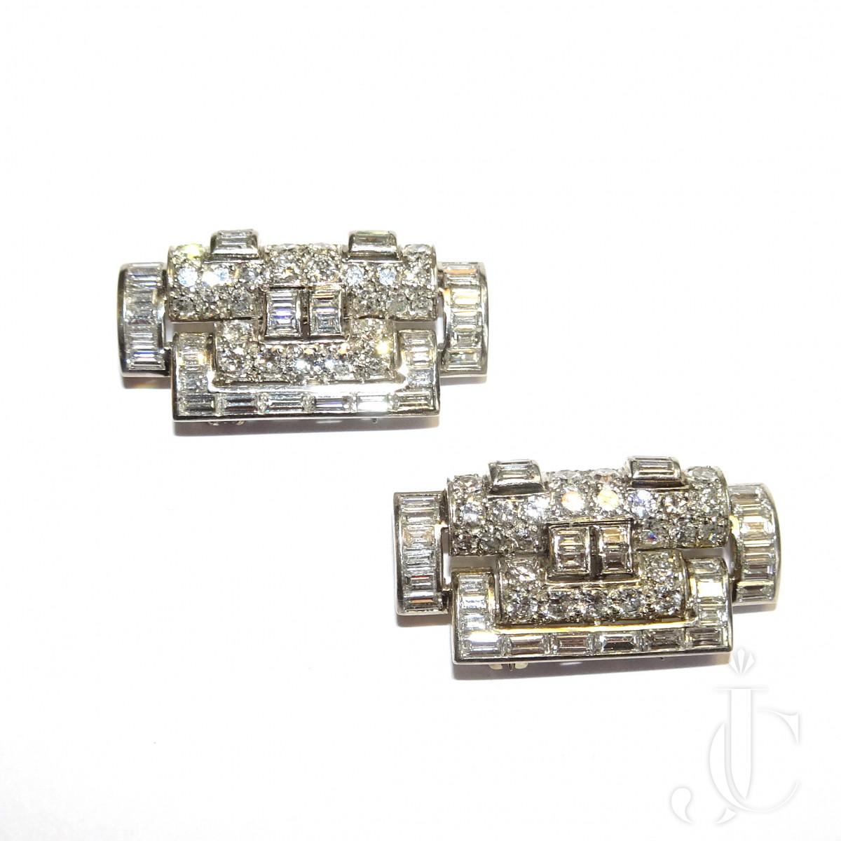 2 Boivin Diamond Dress Clips