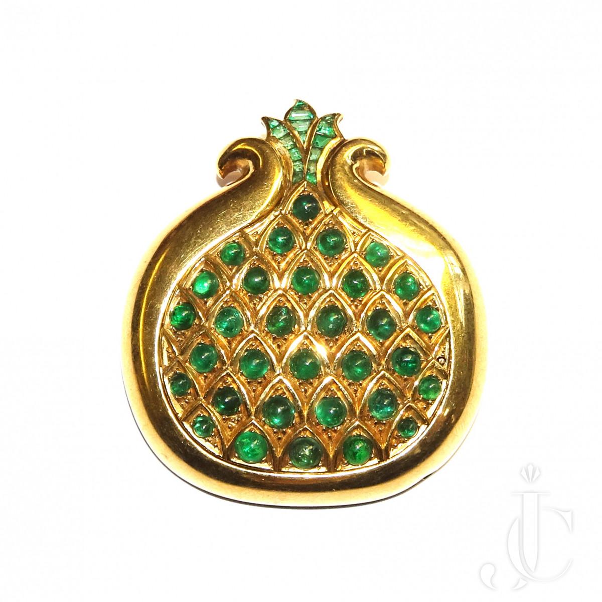 Boivin, Emerald Pomegranate Brooch
