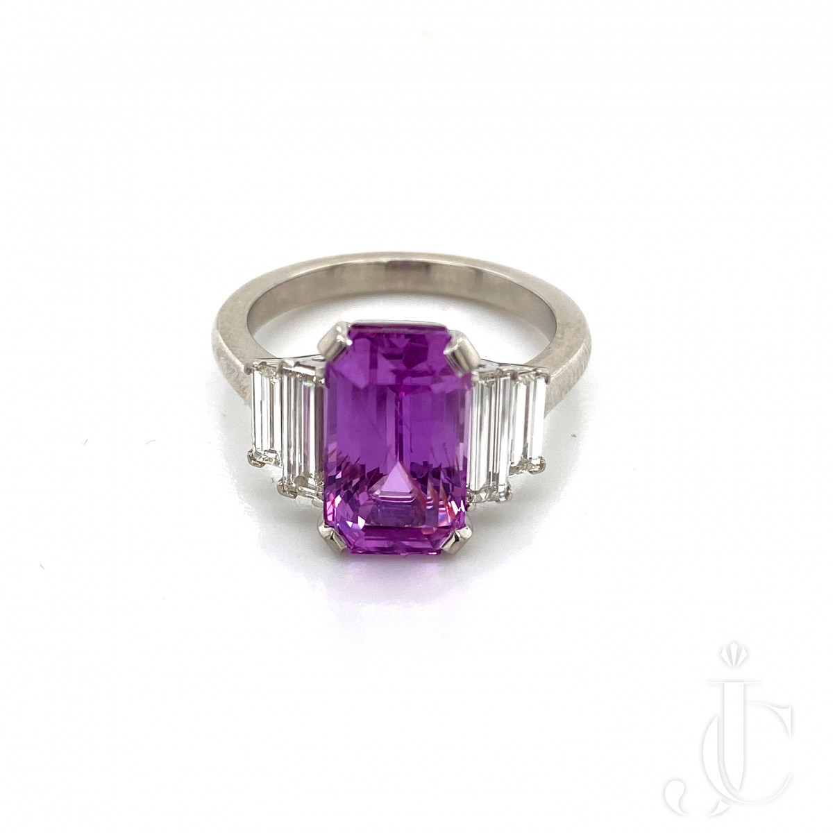 Pink Sapphire 5.07cts Diamond Ring