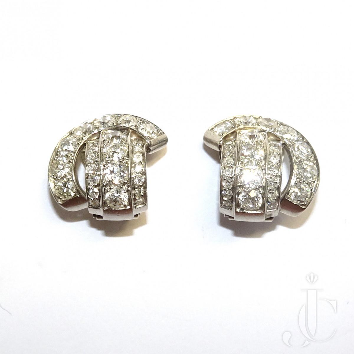 Rene Boivin Diamond Ear Clips