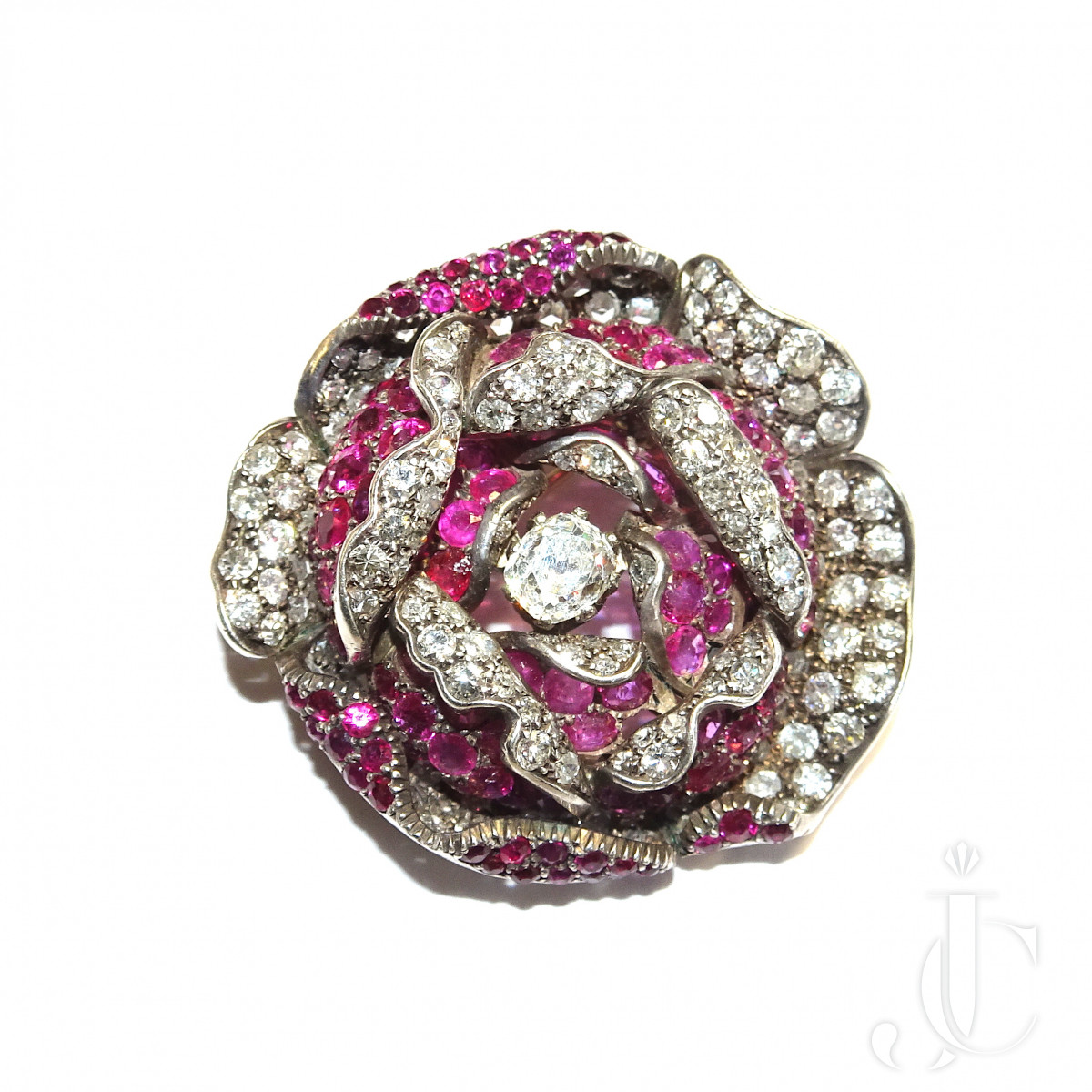 Ryby Diamond Flower Brooch