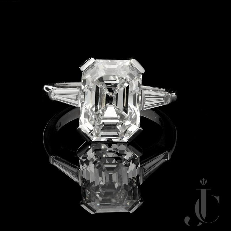 5.19ct G VVS2 Old Mine Emerald cut diamond by Hancocks