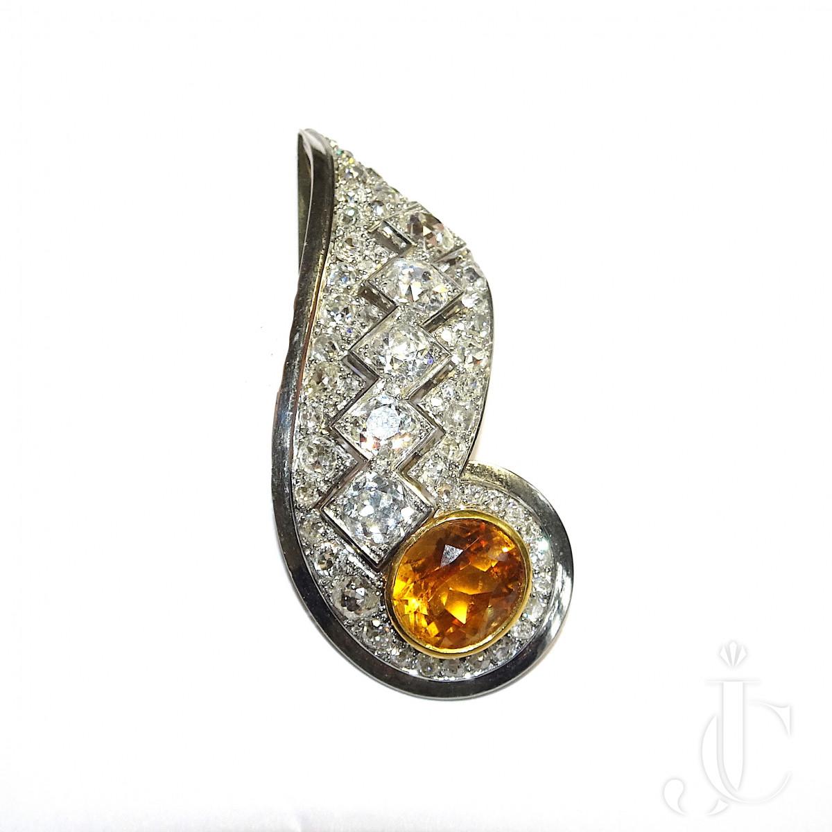 Boivin Citrin Diamond Dress Clip
