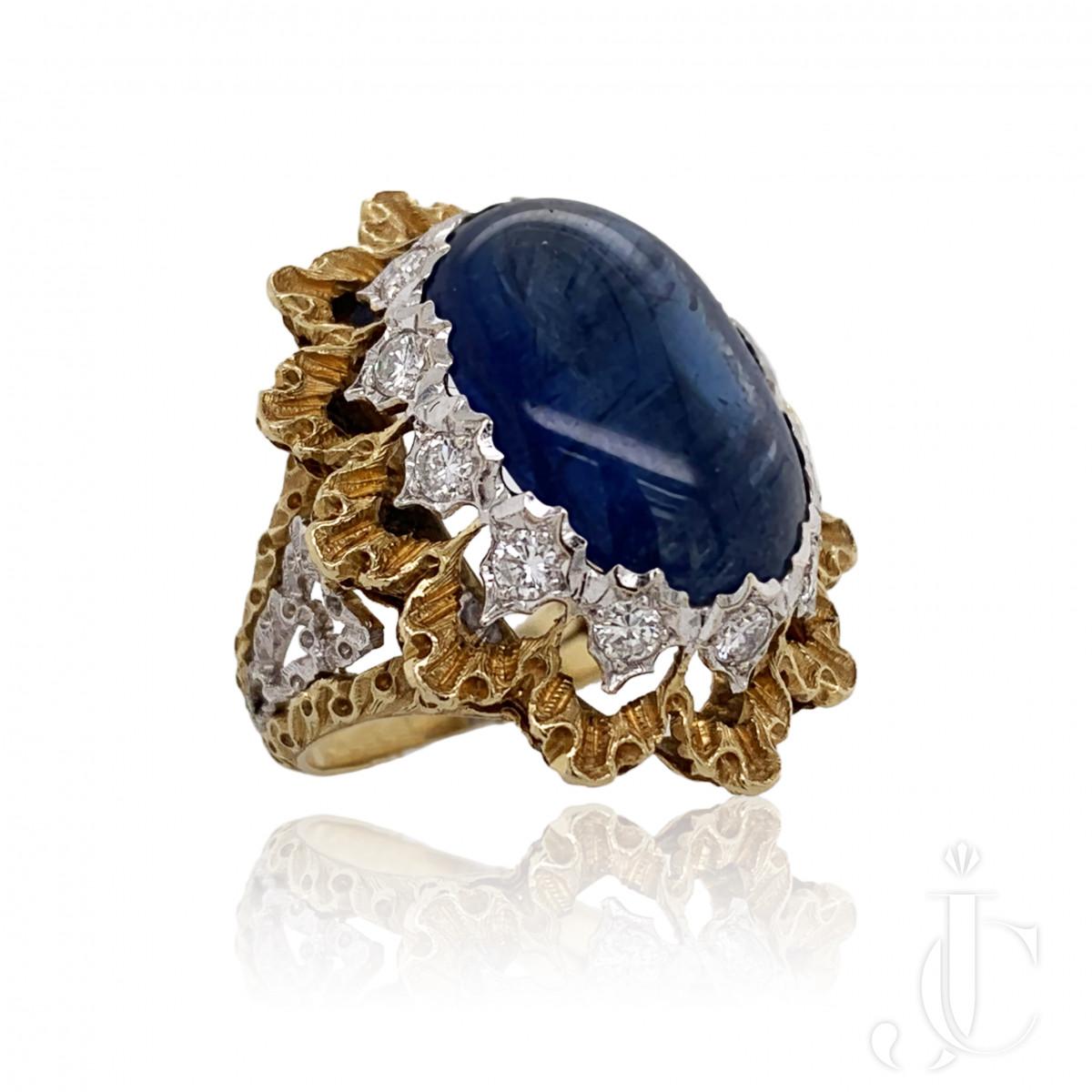 Buccellati Sapphire Diamond Ring