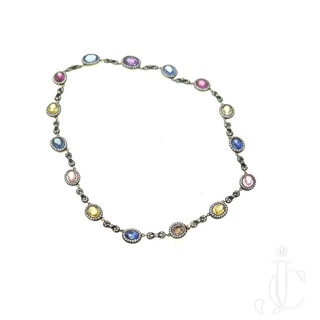 Multi Color Sapphire Necklace
