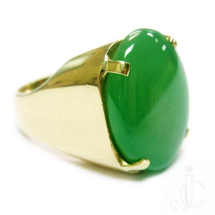 18kt Jadeite Ring, New York, circa 1960, 25.10 cts