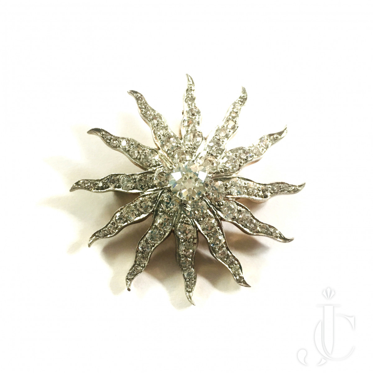 Diamond Sun Pendent/Brooch