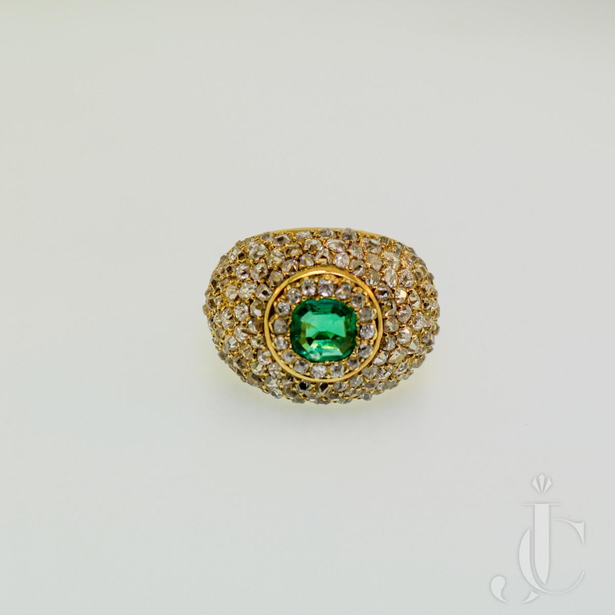 Boivin, Emerald & Diamond Ring