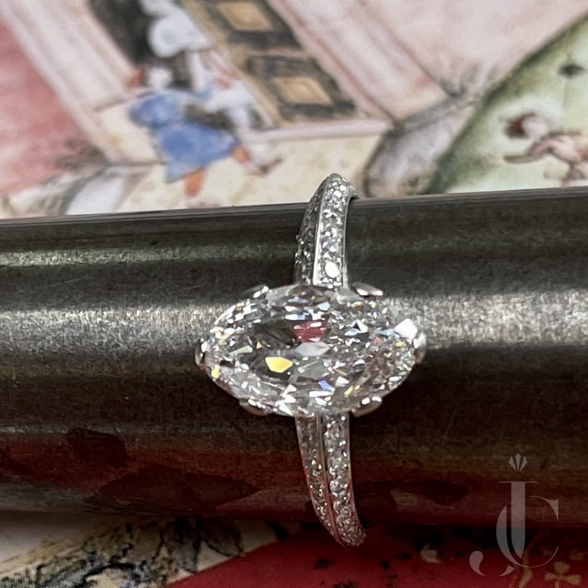 Golconda Moval Diamond ring