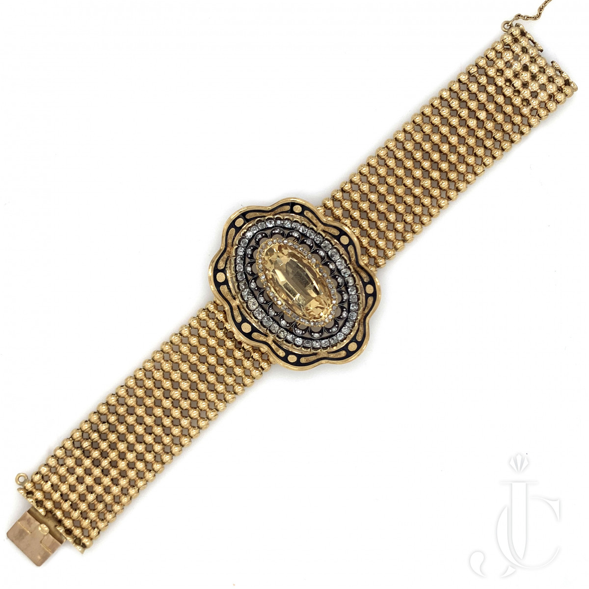 Antique French 18kt yg Citrine Bracelet