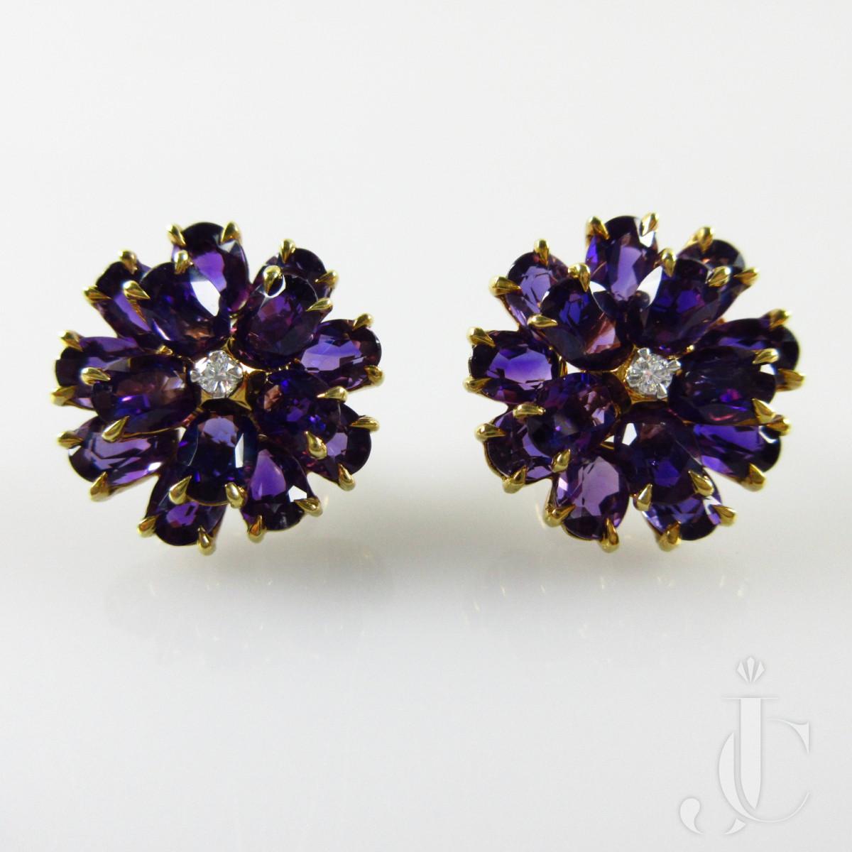 Tiffany & Co Amethyst Earrings