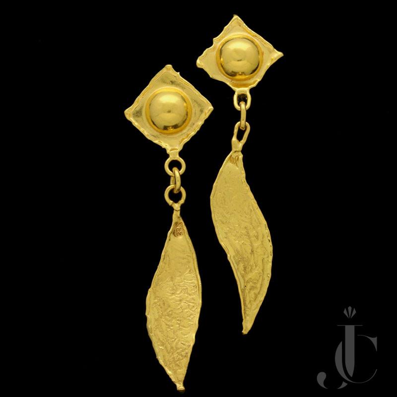 Jean Mahie - 22ct Gold drop earrings c.1970s