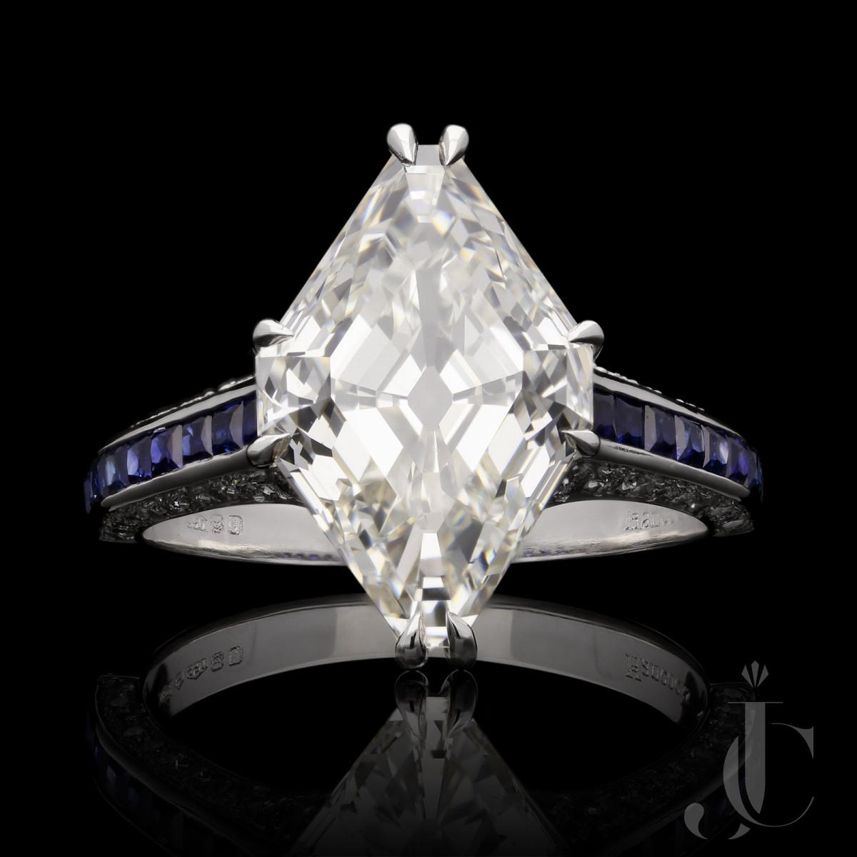 5.31ct I VS1 Vintage Lozenge Diamond ring