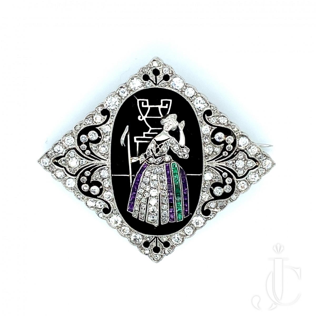 Edwardian Lady Brooch