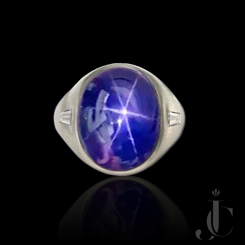 Platinum Star Sapphire Gent