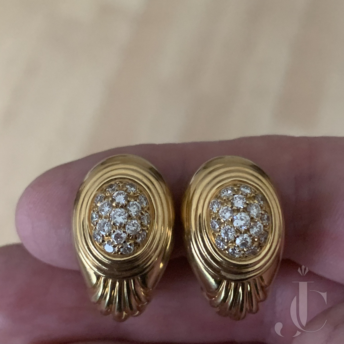 Boucheron Pavé Diamond Earrings