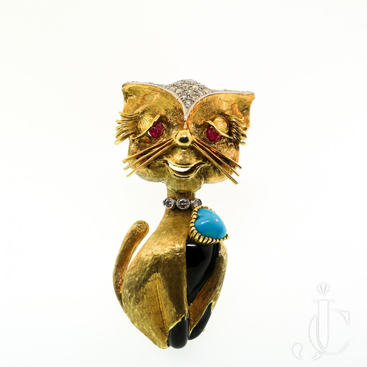 Cartier Cat Brooch