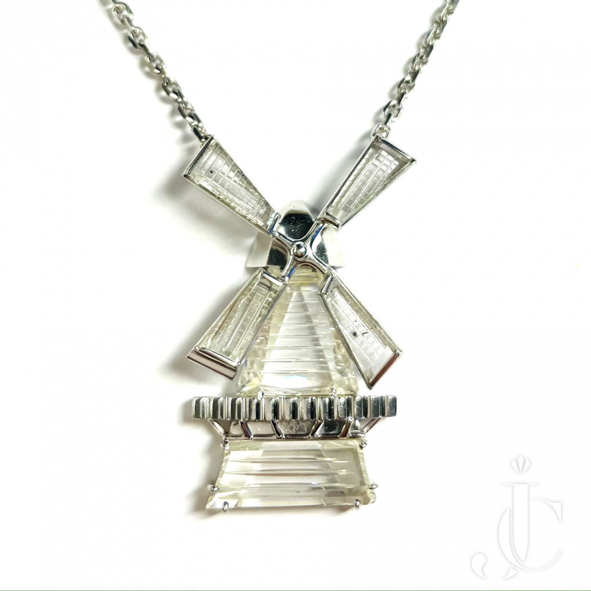 Diamond Windmill Pendant