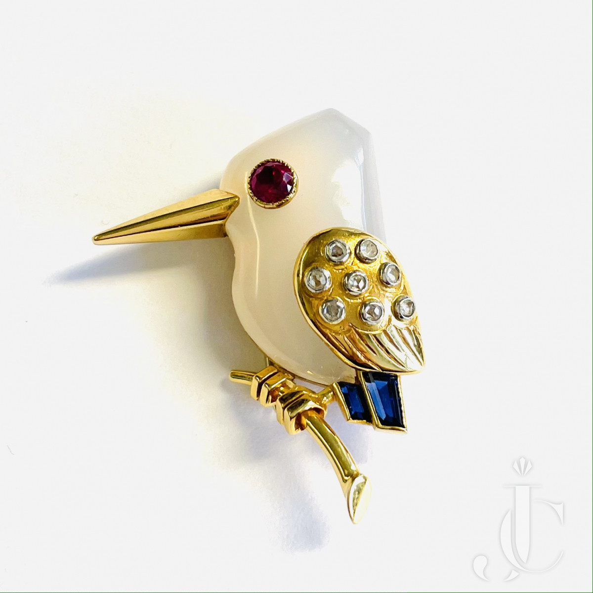 Cartier Kingfisher Brooch