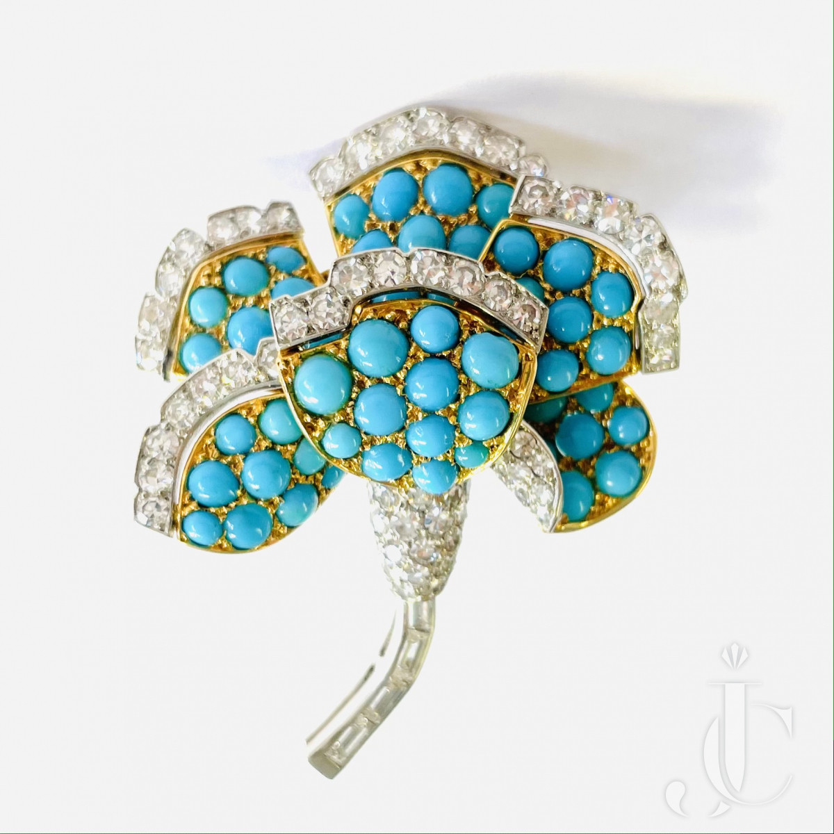 Cartier Turquoise Diamond Brooch