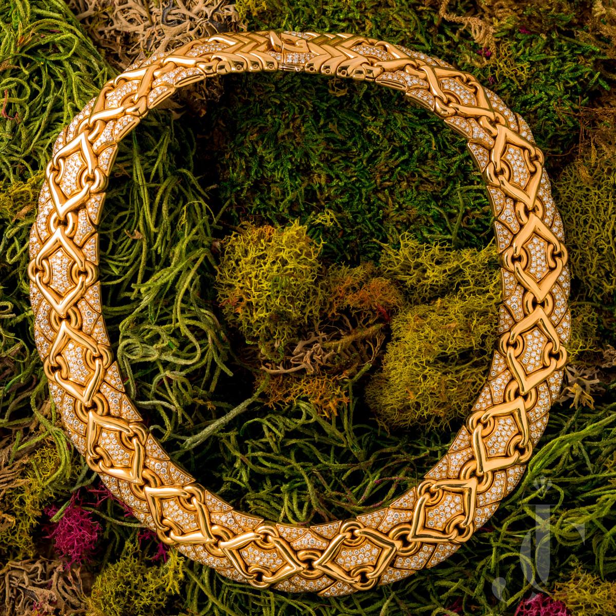 Bulgari Diamond Trika Necklace