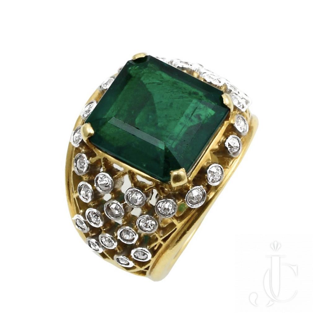 Monture Cartier No Oil Columbian Emerald Ring
