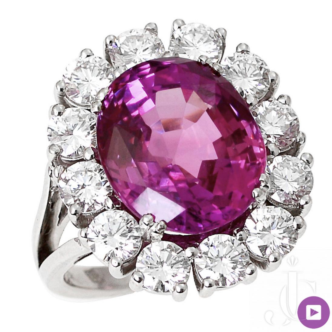 10.46 Ceylon Pink sapphire ring ( Low heat)