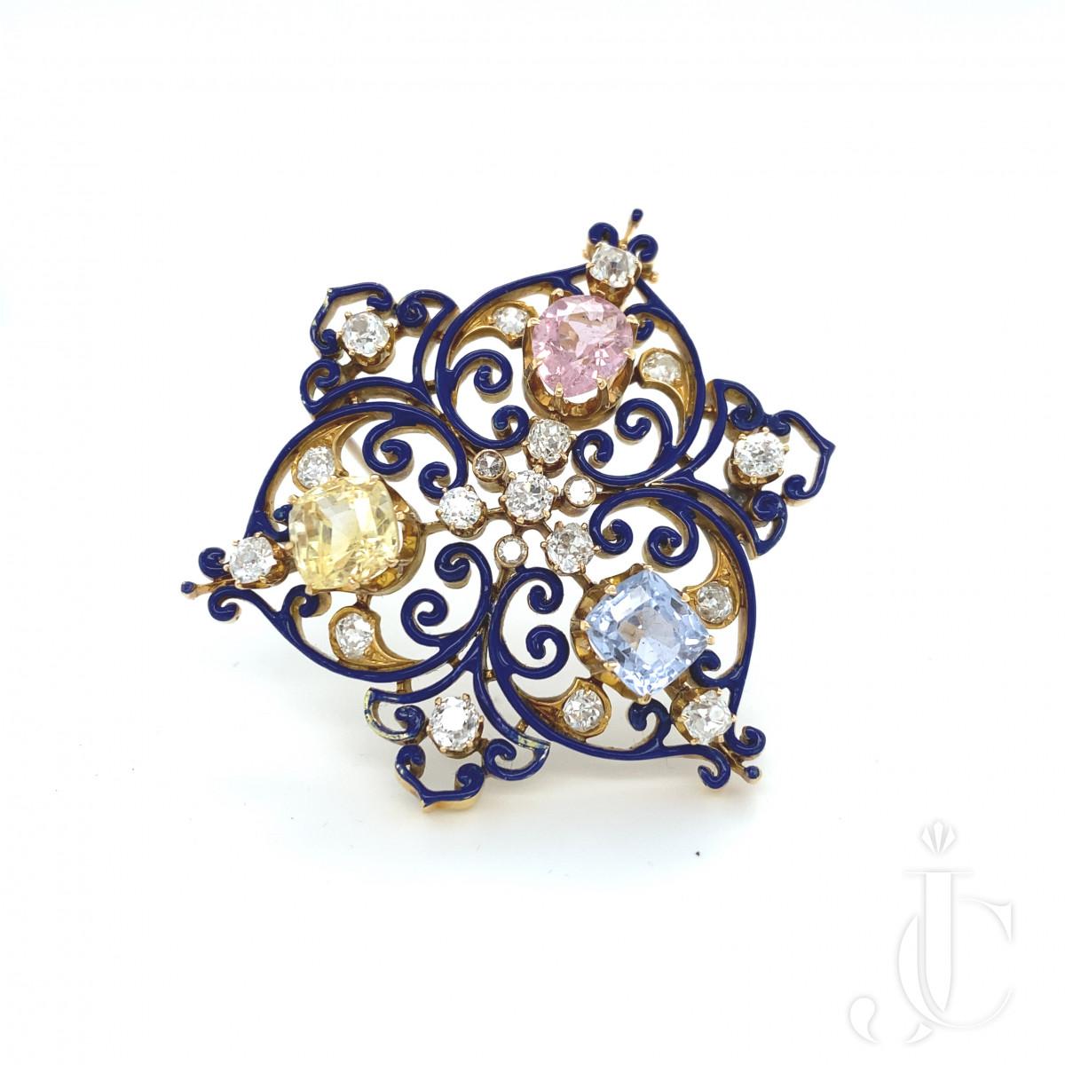 Sapphire Enamel Pin