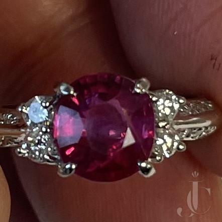 2.16 carat No Heat very clean Mozambique Ruby ( GIA) ring
