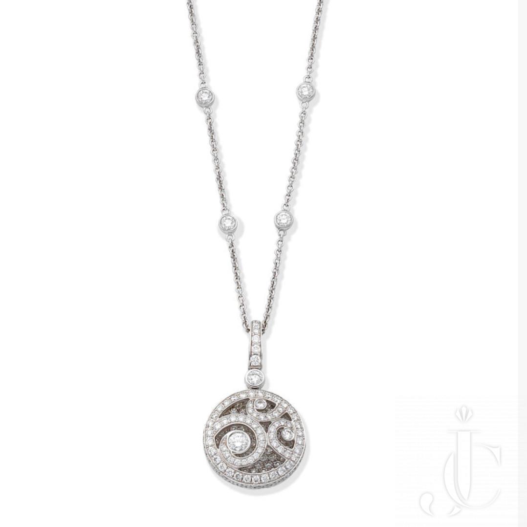 GRAFF: 'Diamond on Diamond' Pendant Necklace
