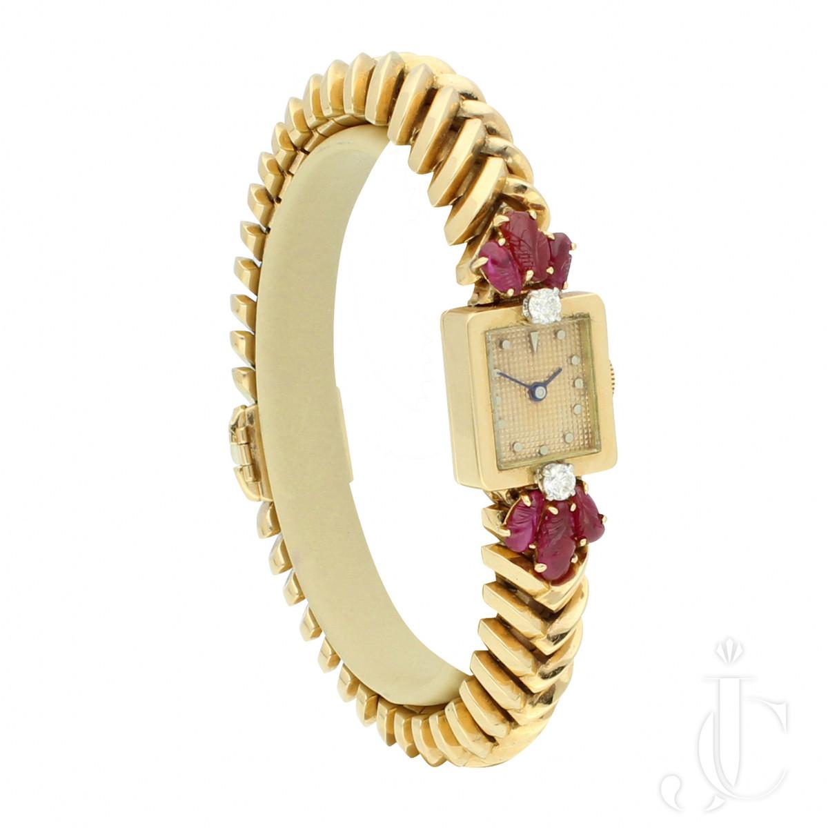 Mauboussin Ruby and Diamond Set Bracelet Watch