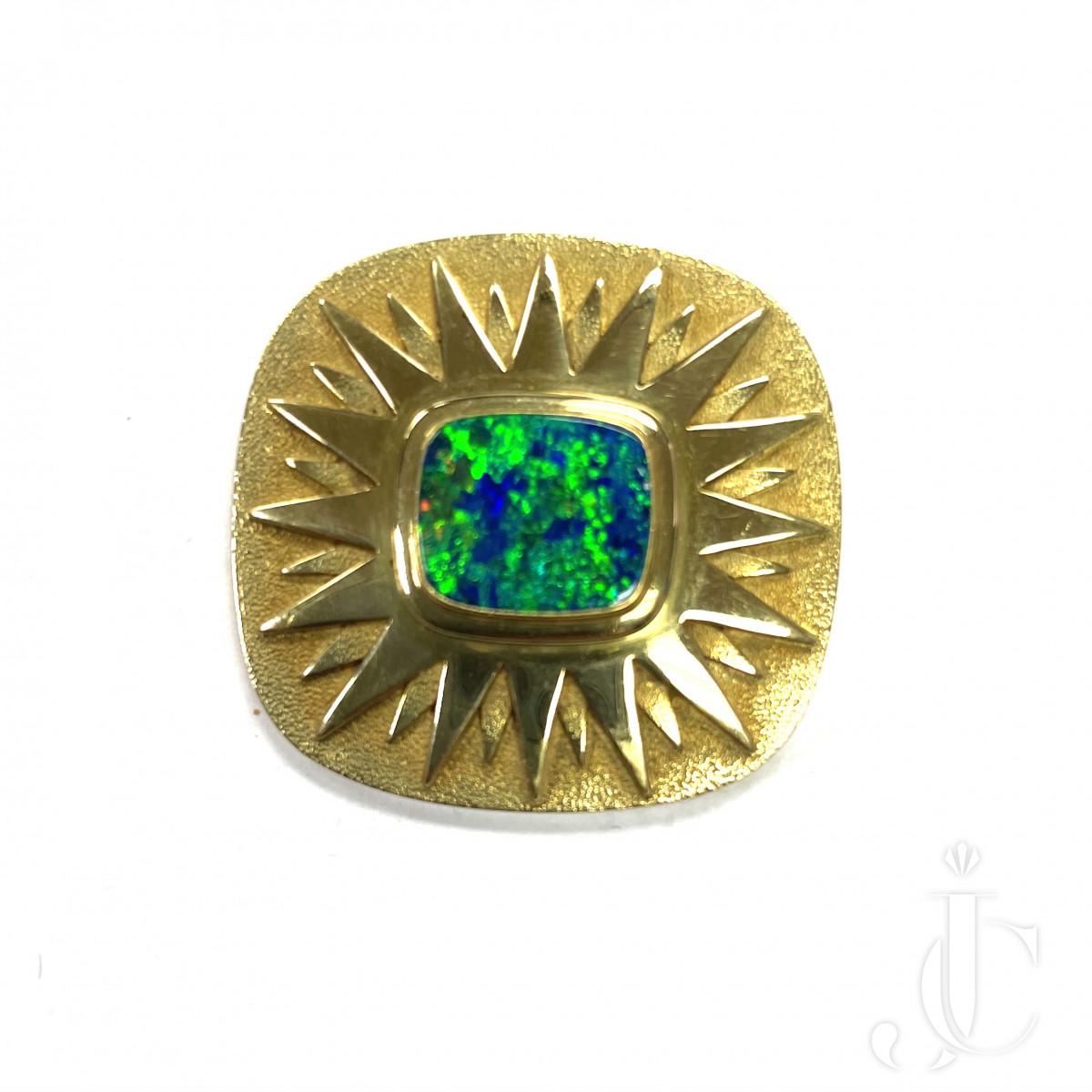 18 KT Gold Opal Pin - 24 Grams