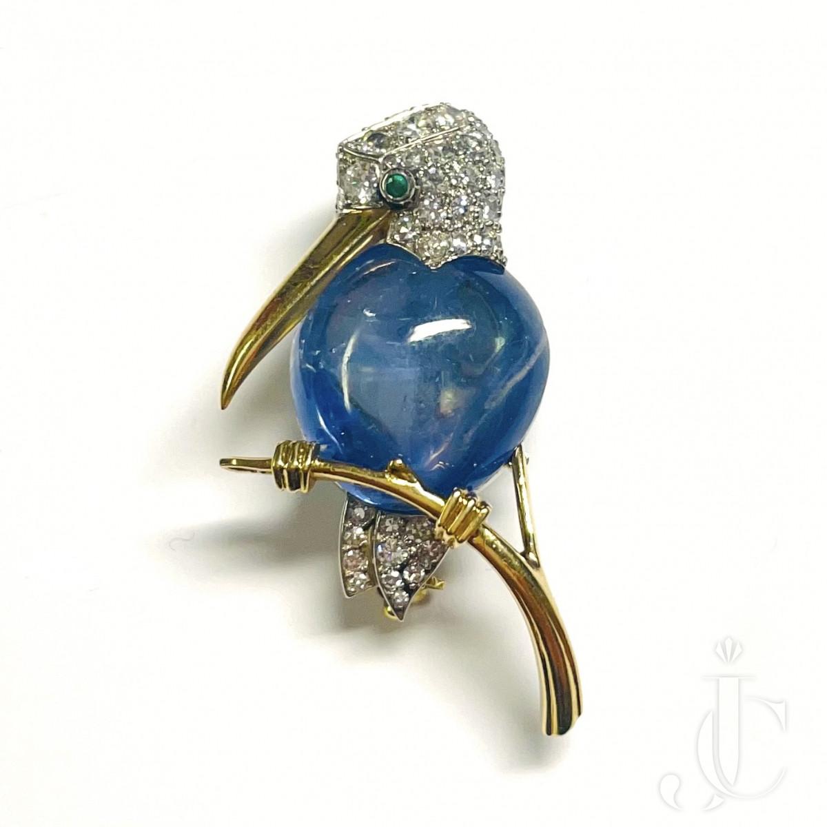 Cartier Sapphire Bird Brooch