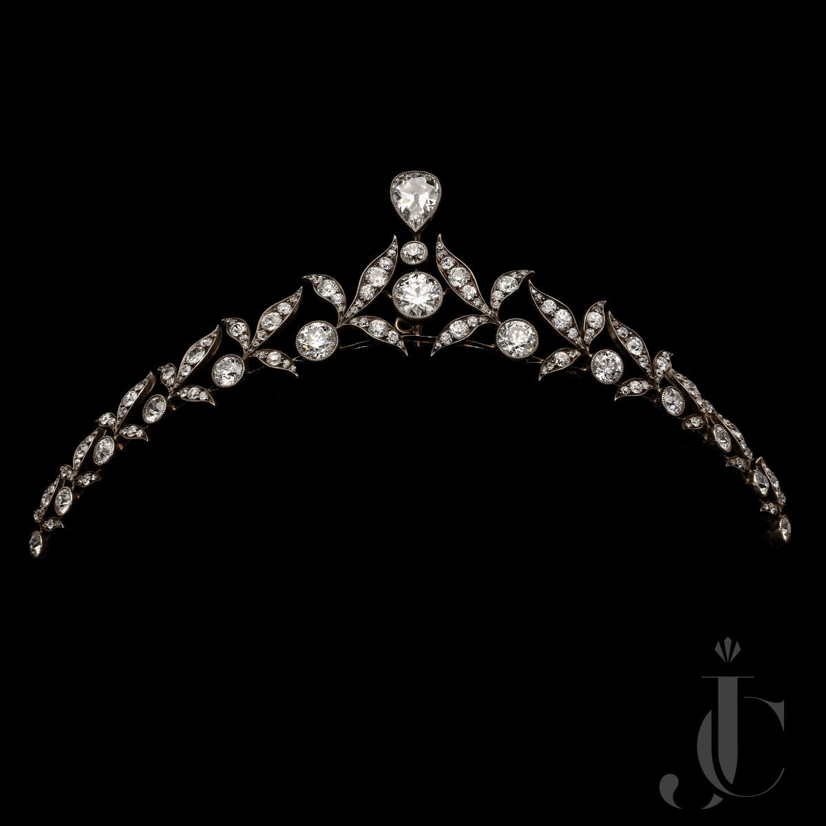 Victorian Diamond Leaf Tiara by Hancocks c.1900