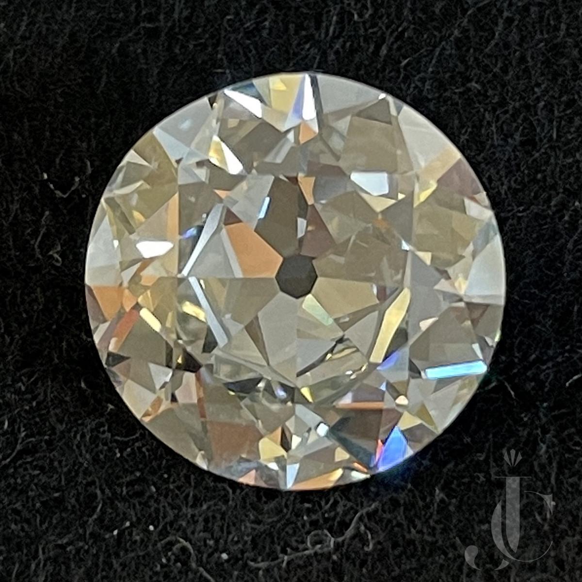 6,61 ct European cut Diamond
