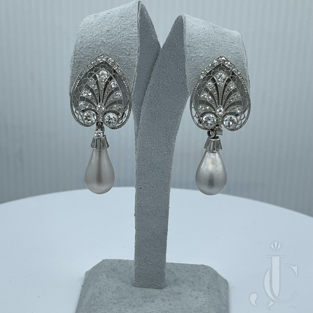 Edwardian Natural Salt Water Pearls Magnificent Drop Fine Earring Pair