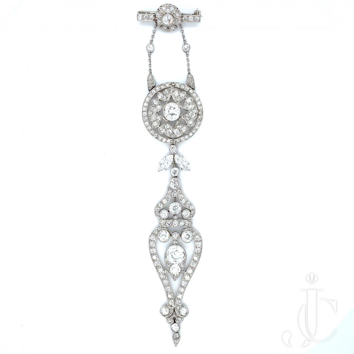 Diamond lapel brooch
