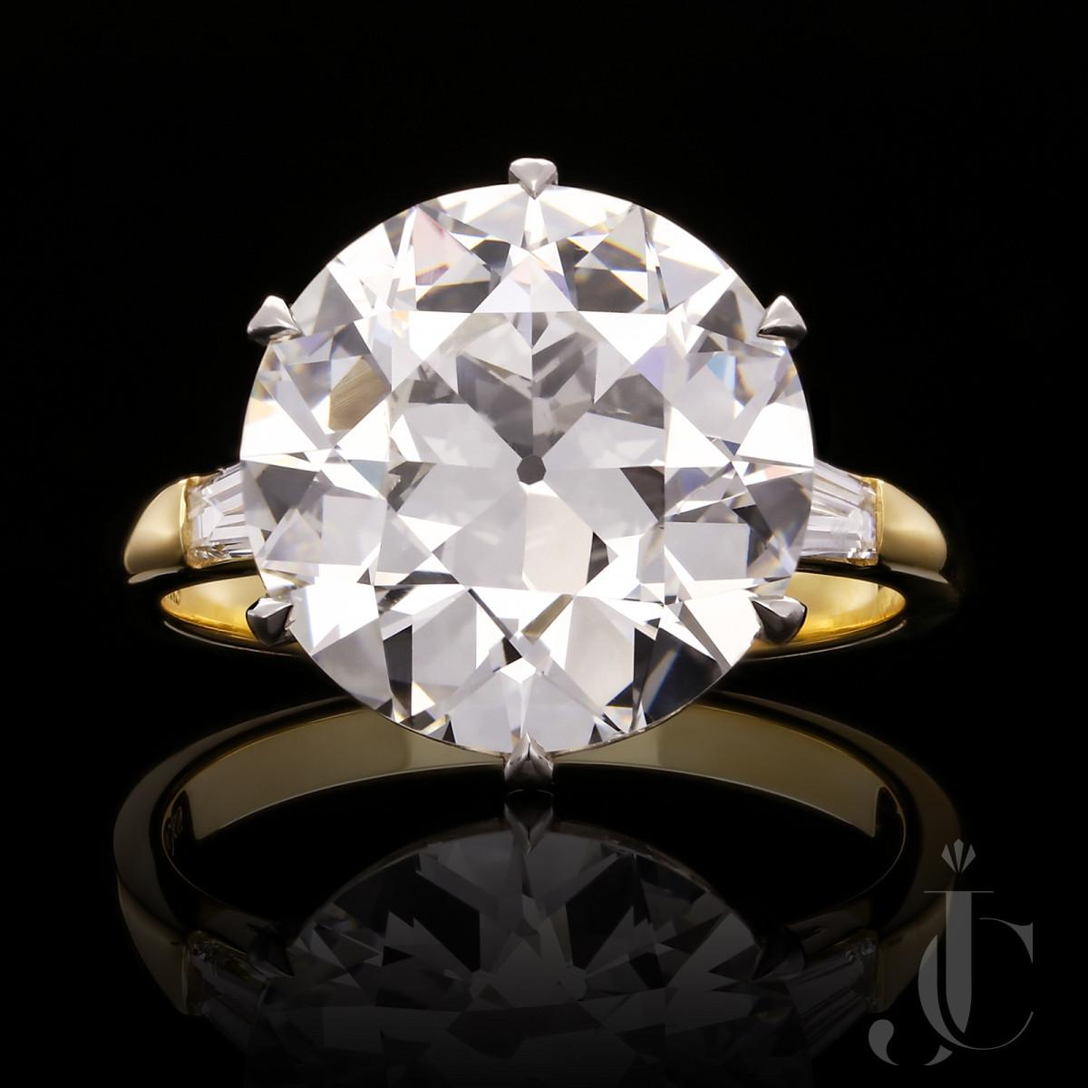 7.09ct G VS1  Old European Brilliant Cut Diamond Ring