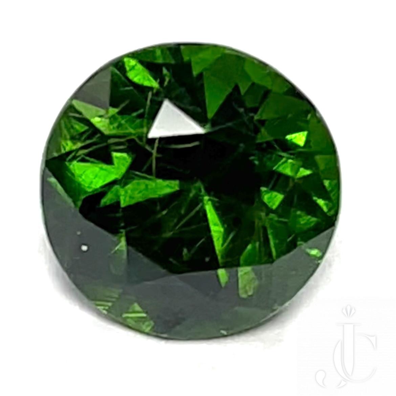 Russian Demantoid Garnet 4.15 carats one se Green and Clean - AGL certified