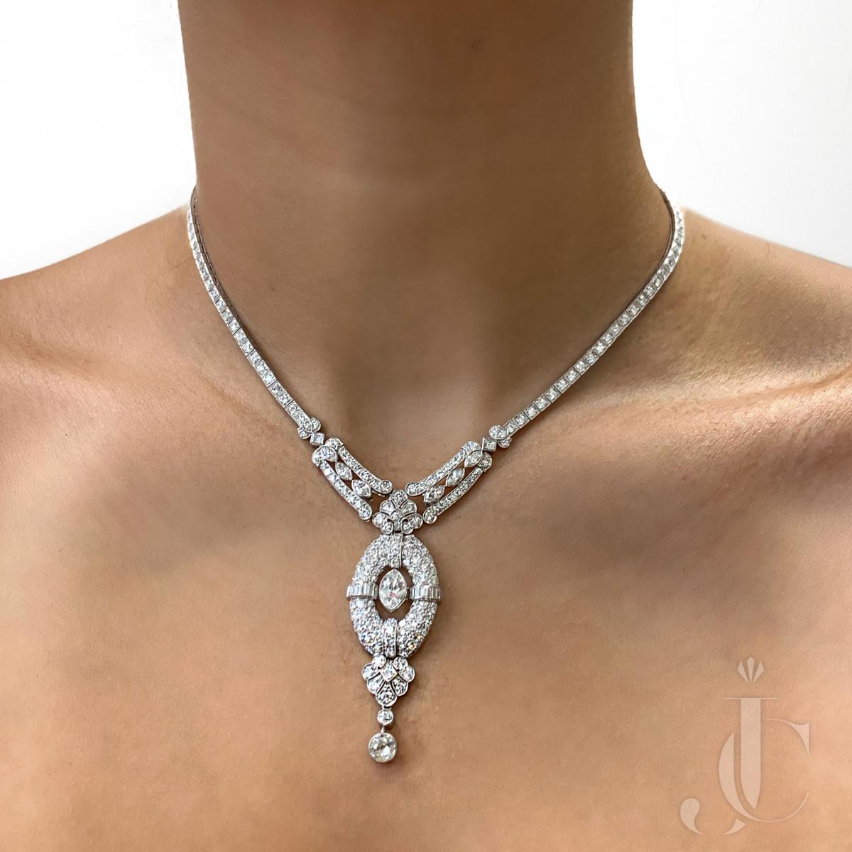 Beautiful Art Deco Diamond Necklace