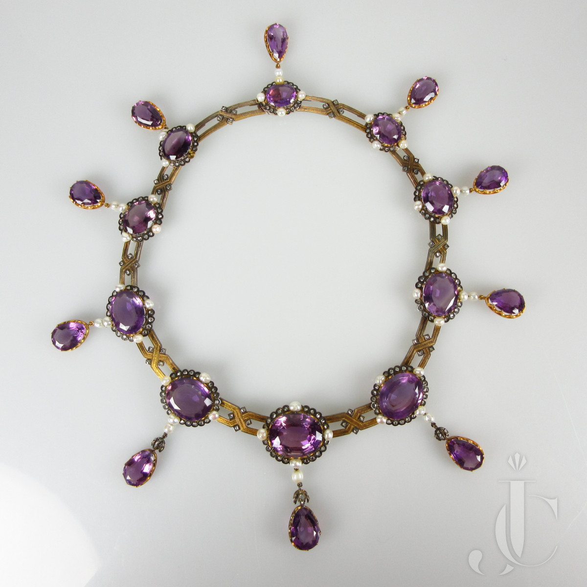 French Victorian Amethyst Necklace