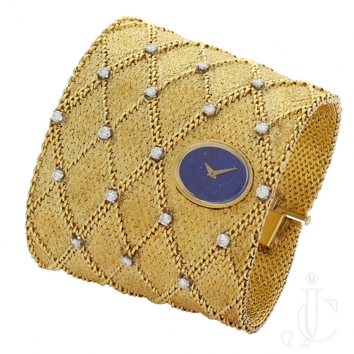 Ebel Woven Gold Cuff Watch