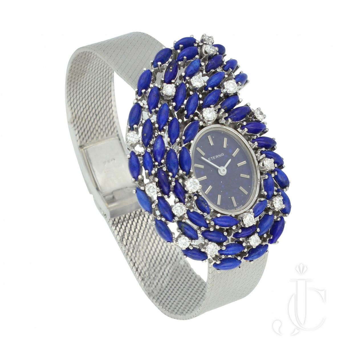Eterna Lapis Lazuli Beaded Bracelet Watch