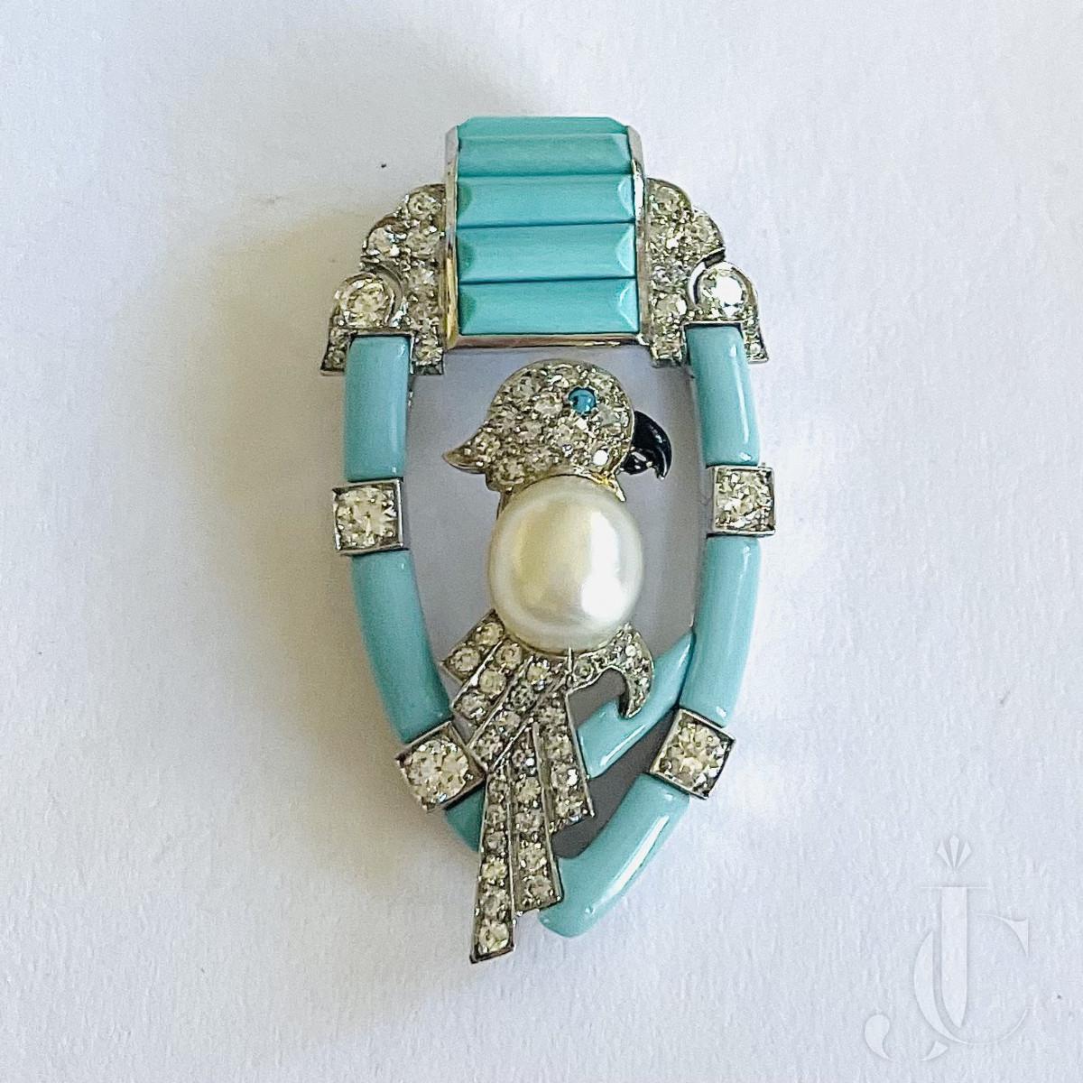 Cartier Art Deco Clip