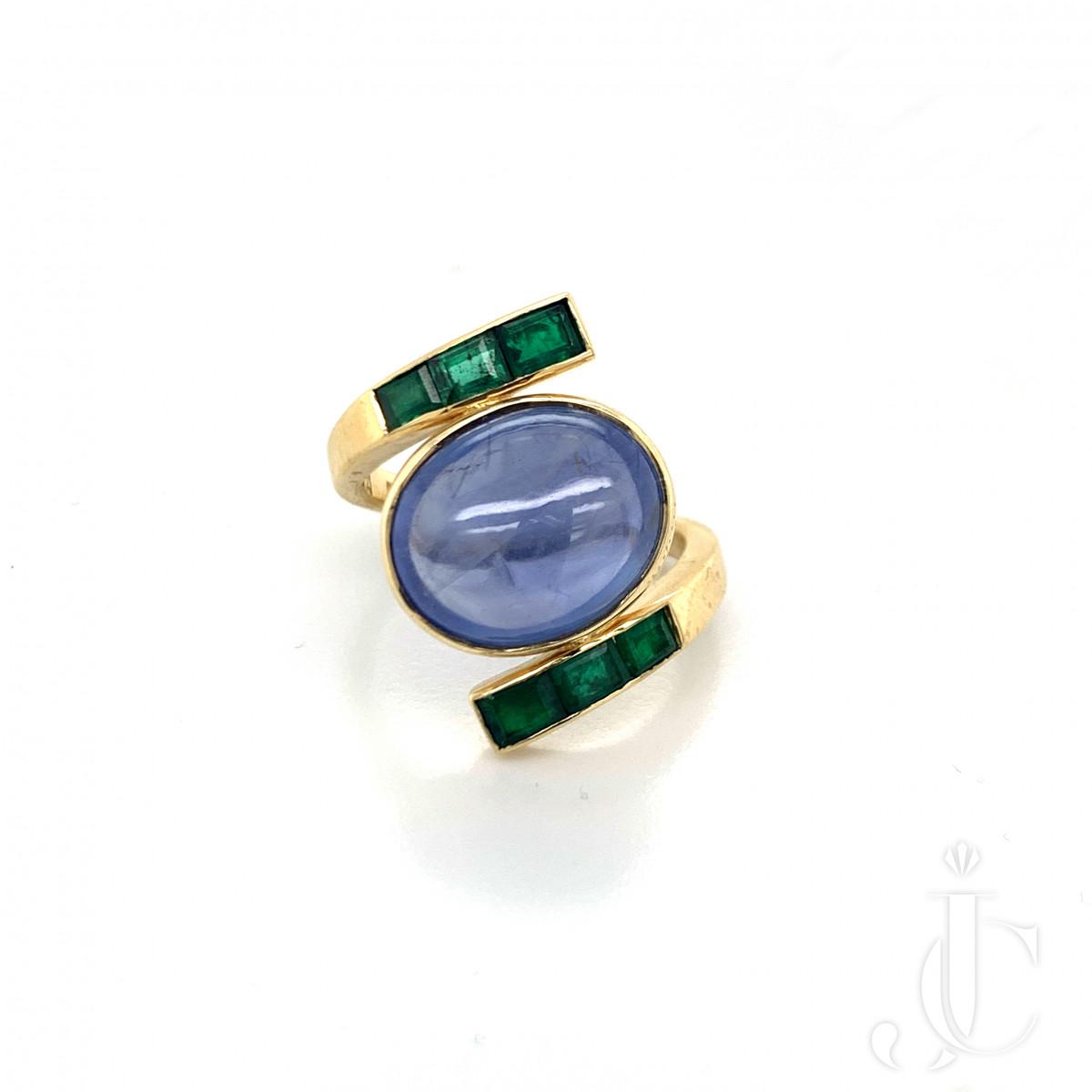 Grima Sapphire 18kt yg Ring