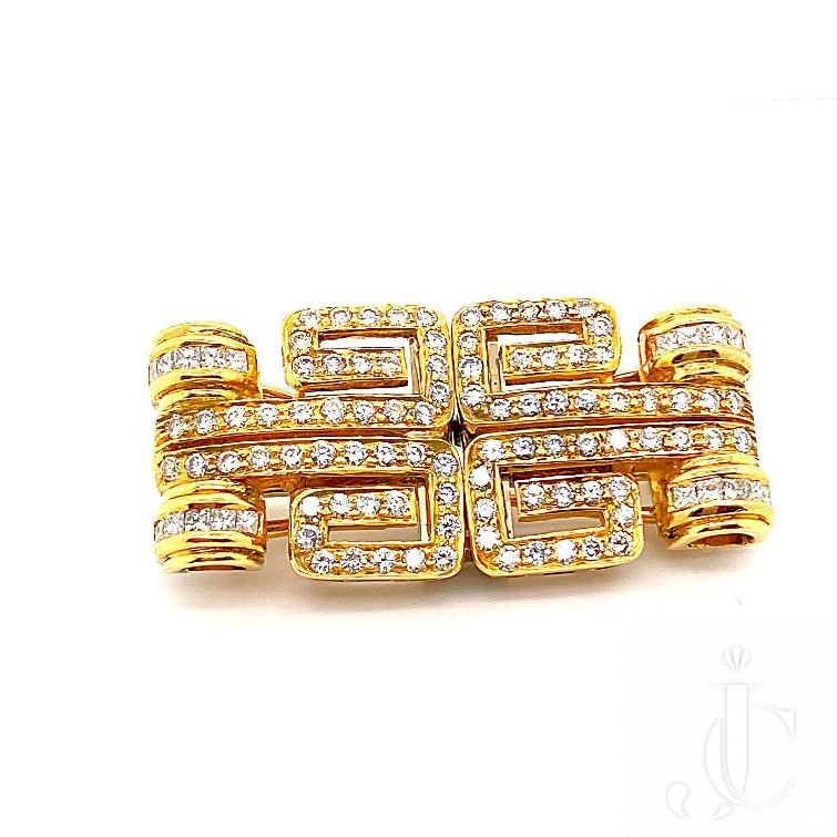 Pair 18kt yg Diamond Double Clips/Earrings