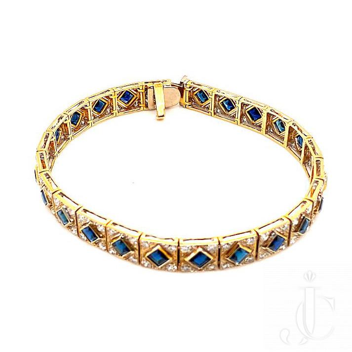 18kt yg Sapphite Diamond Braceelet