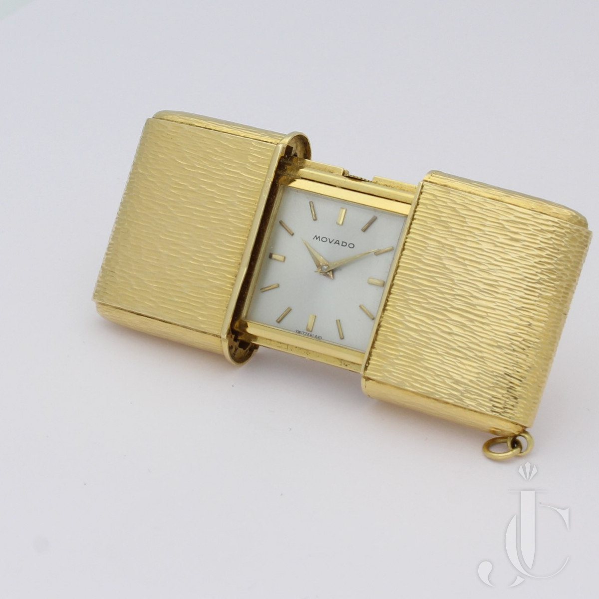 Gold Movado Emerto Travelling Clock